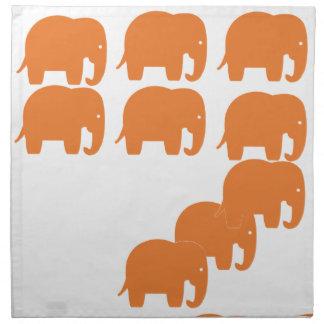 orange elephant napkin