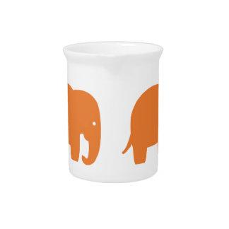 orange elephant pitcher