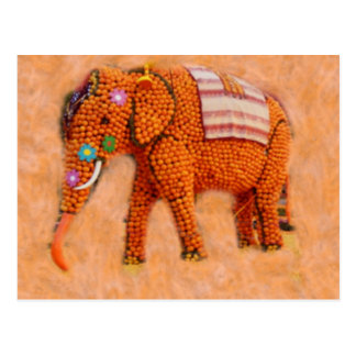 Orange Elephant Postcard