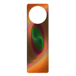 Orange ellipse galaxy door hangers