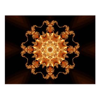 Orange enamel fibula postcard