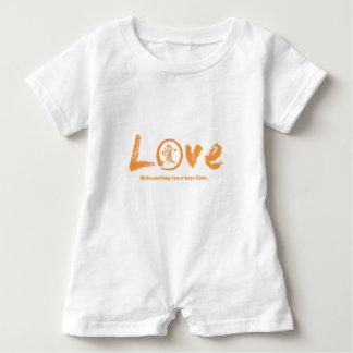 Orange enso zen circle, Japanese symbol for love Baby Bodysuit