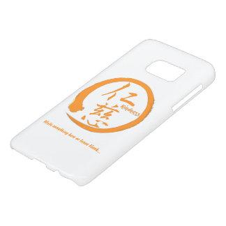 Orange enso zen circle • Kindness kanji