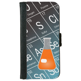 Orange Erlenmeyer (Conical) Flask Chemistry iPhone 6 Wallet Case