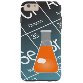Orange Erlenmeyer (Conical) Flask Chemistry Tough iPhone 6 Plus Case