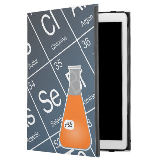 "Orange Erlenmeyer Flask (with Initials) Chemistry iPad Pro 12.9"" Case"