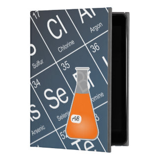 "Orange Erlenmeyer Flask (with Initials) Chemistry iPad Pro 9.7"" Case"