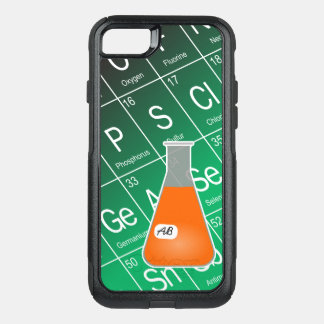Orange Erlenmeyer Flask (with Initials) Chemistry OtterBox Commuter iPhone 7 Case