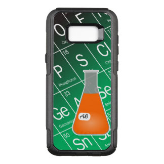 Orange Erlenmeyer Flask (with Initials) Chemistry OtterBox Commuter Samsung Galaxy S8+ Case