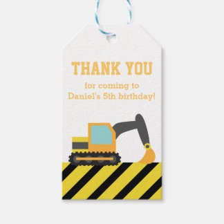 Orange Excavator Construction Kids Party Birthday