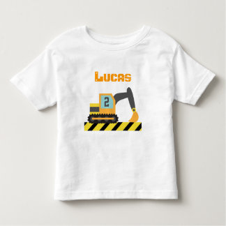 Orange Excavator Construction Vehicle 2 Year old Toddler T-Shirt
