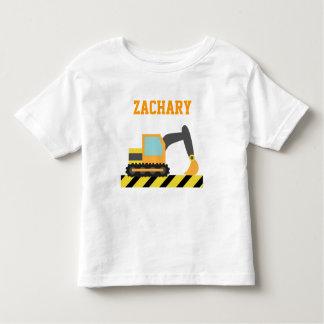 Orange Excavator, Construction Vehicle, For kids Toddler T-Shirt