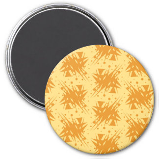 Orange Explosion Pattern Magnet