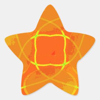Orange Explosion Star Sticker