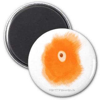 Orange EyeBall Critter Fridge Magnets