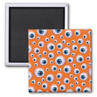 Orange eyeball pattern magnets