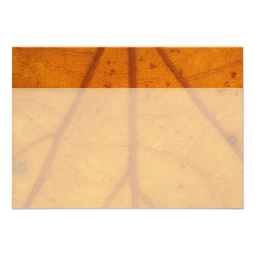 Orange Fall Leaf flat thank you notes Personalized Announcements