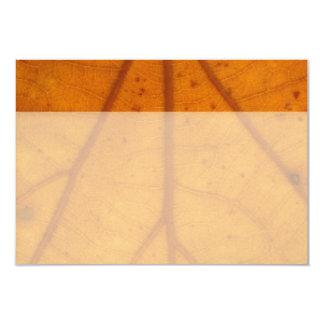 Orange Fall Leaf flat thank you notes 9 Cm X 13 Cm Invitation Card