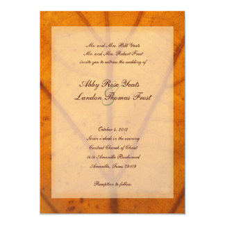 Orange Fall Leaf Wedding Invitation