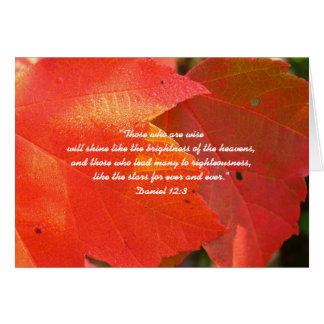 Orange Fall Leaves Custom Pastor Appreciation Card