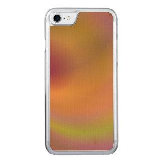 Orange fantasy sky carved iPhone 7 case