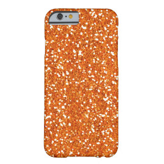 Orange Faux Glitter iPhone 6 case Barely There iPhone 6 Case