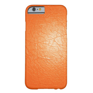 Orange Faux Leather Barely There iPhone 6 Case