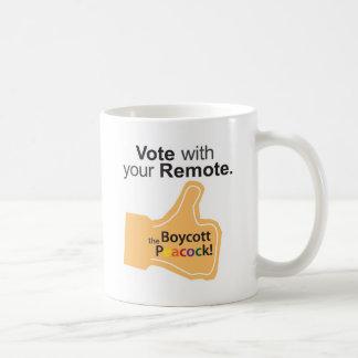 Orange Finger Vote with Your Remote! Basic White Mug