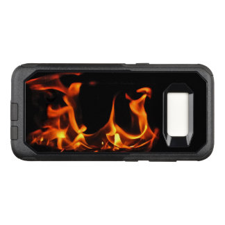 Orange Fire Abstract OtterBox Galaxy S8 Case