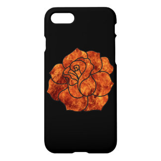 Orange Fire Rose iPhone 7 Case