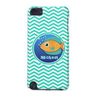 Orange Fish Aqua Green Chevron iPod Touch 5G Covers