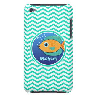 Orange Fish Aqua Green Chevron iPod Touch Cases