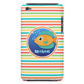 Orange Fish Bright Rainbow Stripes iPod Case-Mate Case