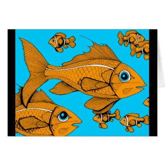 Orange Fish Card
