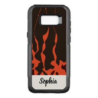 Orange Flames OtterBox Commuter Samsung Galaxy S8+ Case
