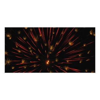 Orange Flash and Twinkle Picture Card