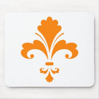Orange Fleur de lis Mouse Pad