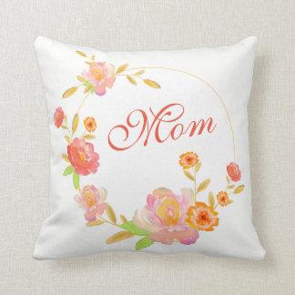 Orange Floral Custom Mum Pillow