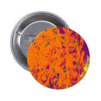 Orange floral design pin