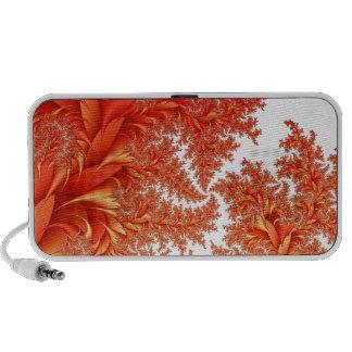 orange floral fractal pattern travelling speakers