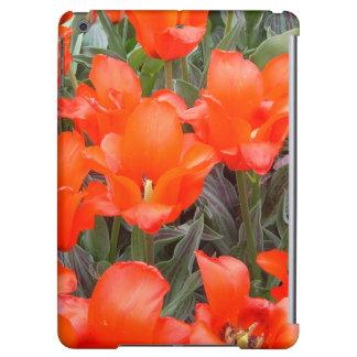 Orange Floral Garden Flowers iPad Case