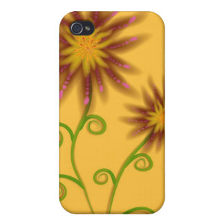 Orange Floral iPhone Case 4 Cases For iPhone 4