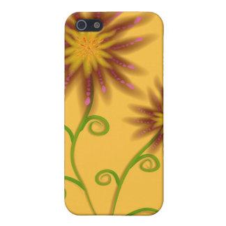 Orange Floral iPhone Case 4 iPhone 5/5S Cover