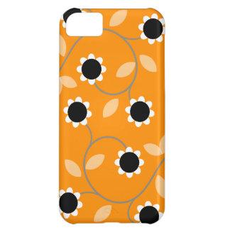Orange Floral Pattern iPhone 5C Case