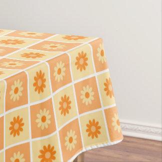Orange floral Pattern Tablecloth