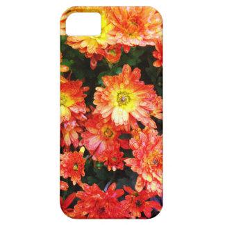 Orange floral phone case