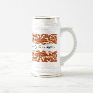 Orange Floral Wedding Mugs