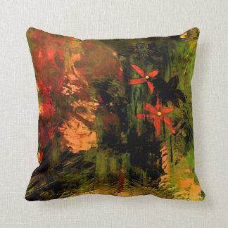 Orange Flower Abstract Cushion