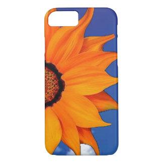 Orange flower and sky Phone case