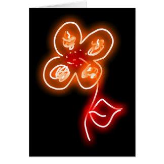 orange flower blank greeting card